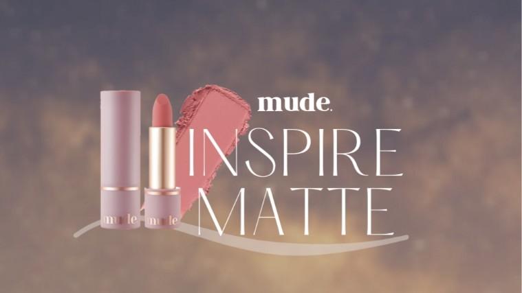【レビュー】mude. 軽い付け心地&絶妙カラーのマットリップスティック