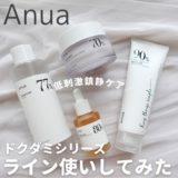 Anua(アヌア)ドクダミシリーズをライン使いしてみた!【弱酸性・鎮静】